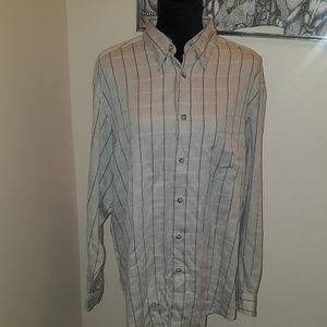 🍒5 for 10Clairborne mens plaid dress shirt. Sizel